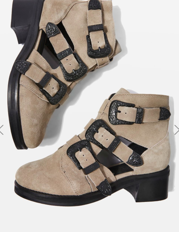 Topshop MARCO Cut Out Buckle Boots
