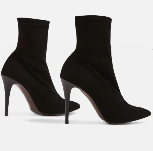 Topshop HUBBA Pointed Sock Boots