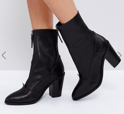 ASOS EMPEROR Leather Zip Boots