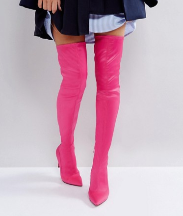 ASOS KINDY Point Over The Knee Boots