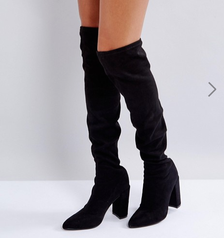 Missguided Pointed Over The Knee Boot