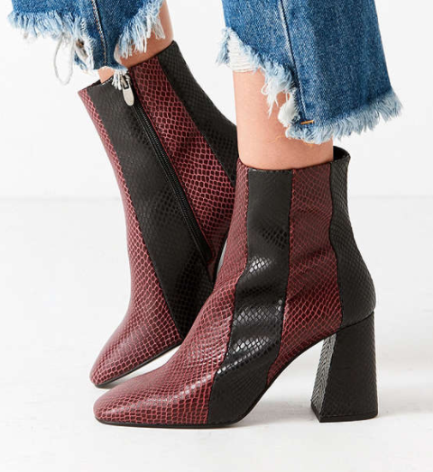 Crosswalk Striped Leather Ankle Boot