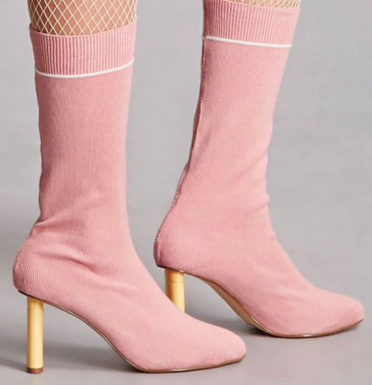 Forever 21 Colorblock Sock Boots