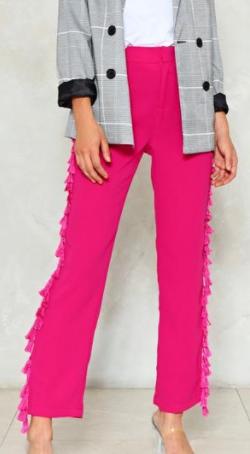 Nasty Gal Side Hustle Tassel Pants