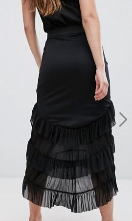 River Island Tiered Ruffle Hi Low Maxi Skirt