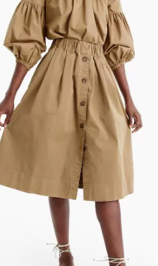 Jcrew Button-front chino skirt