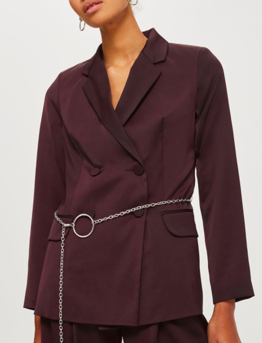 Topshop Chain Belted Jacket