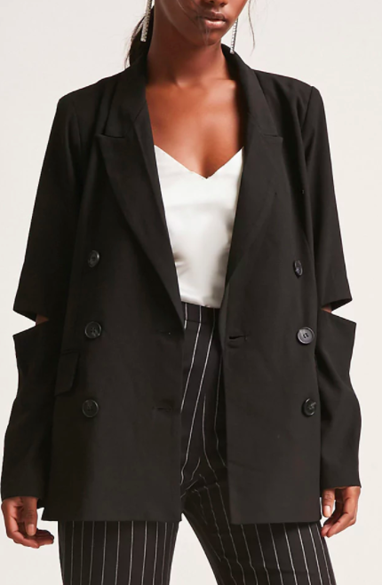 forever 21 Double Breasted Cutout Blazer