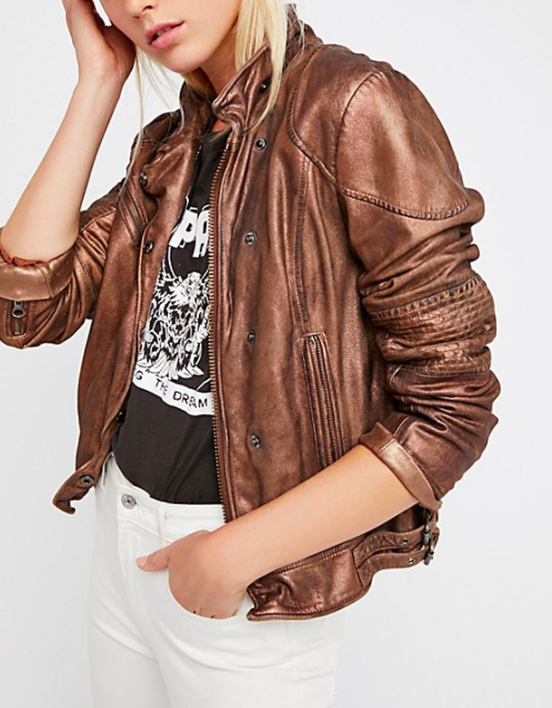 FP Fitted and Rugged Leather Jacket