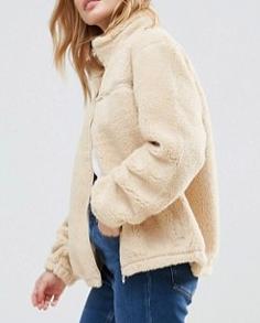 Fila Petite Teddy Bear Jacket With Pocket Detail