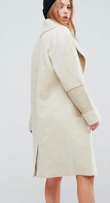New Look Faux Shearling Teddy Coat
