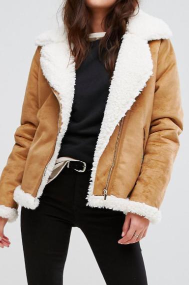 Vila Faux Shearling Jacket