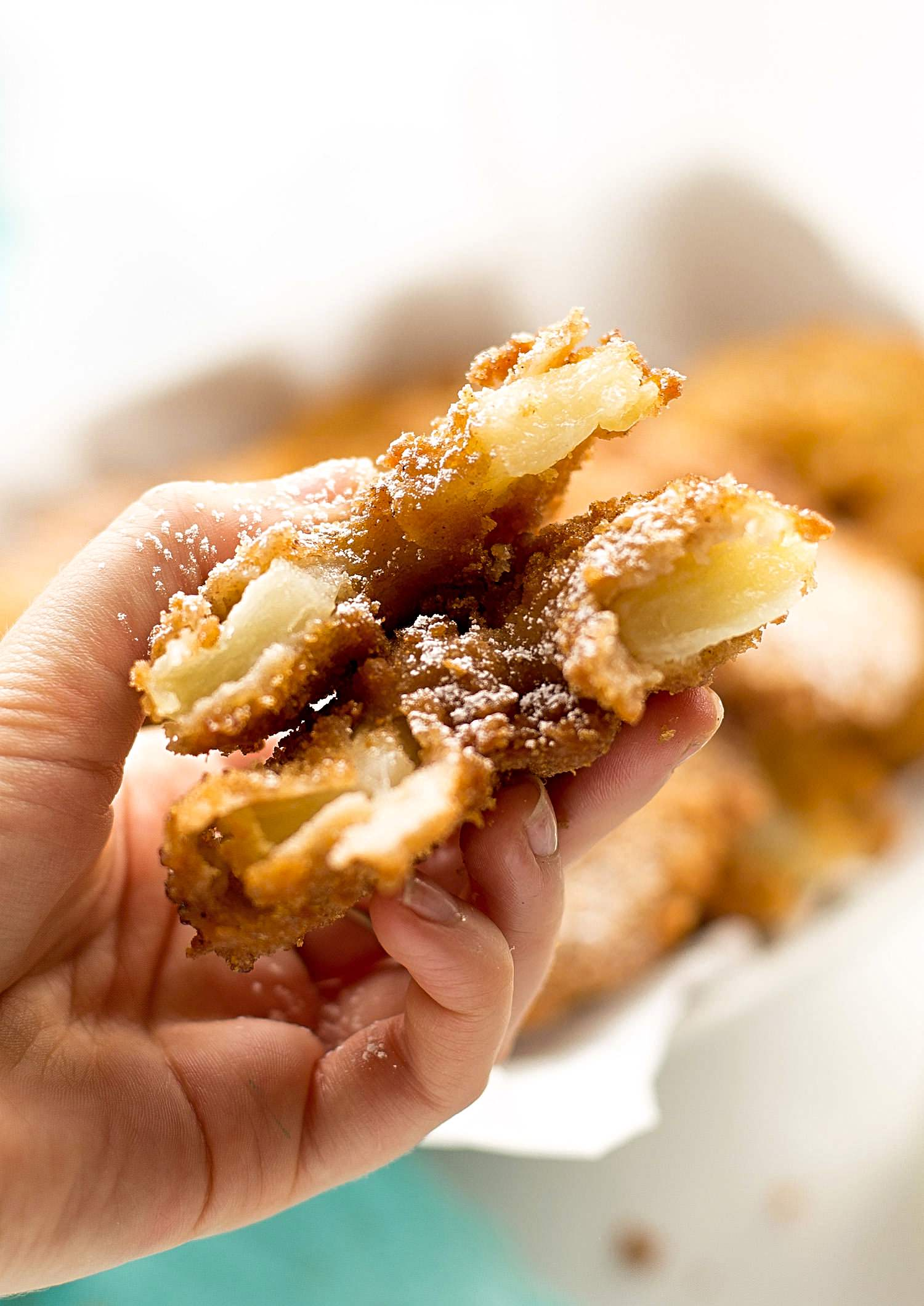 Deep-Fried Crispy Apple Donuts | TrufflesandTrends.com
