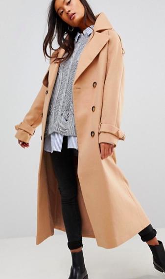 ASOS Wool Trench Coat
