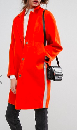 ASOS Slim Coat with Tape Detail
