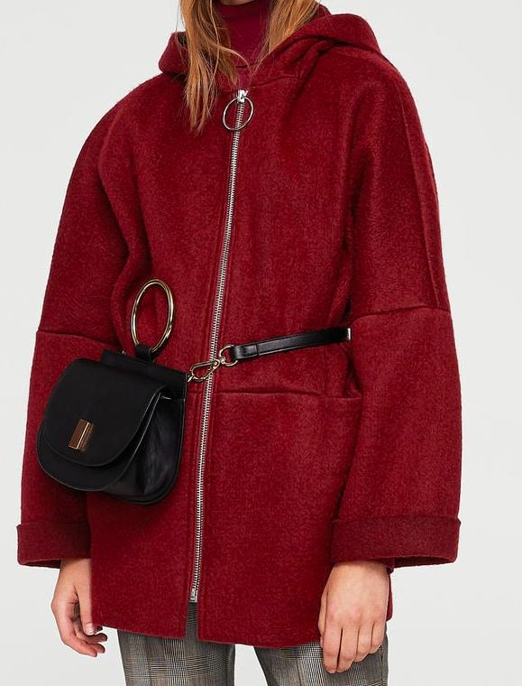Mango Hood mohair coat