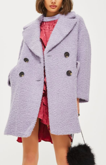 Topshop Alicia Boucle Textured Slouch Coat