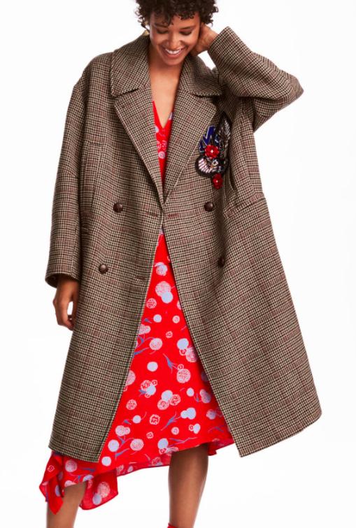 HM Coat with Appliqués
