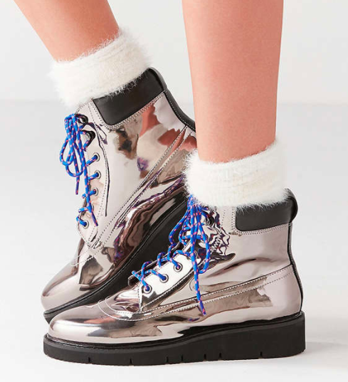 Shellys London Erin Silver Hiker Boot