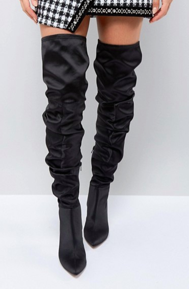 ASOS KENZIE Slouch Over The Knee Boots