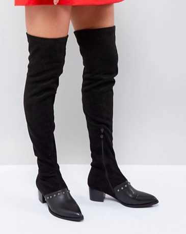 PrettyLittleThing Studded Over The Knee Boot