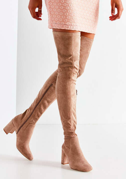 Jeffrey Campbell Cienega Tan Over-The-Knee Boot