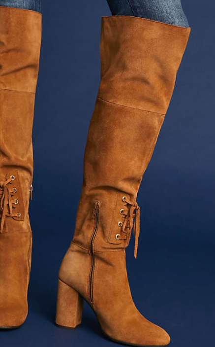 Elysess Over-The-Knee Lace-Up Boots