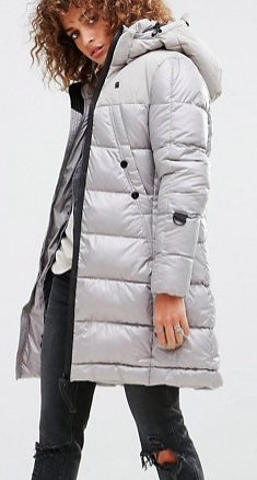 G-Star Whistler Padded Long Line Coat