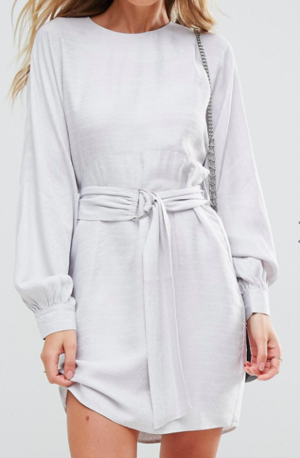 ASOS Jacquard Belted Mini Dress