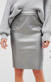 Vero Moda Tall Metallic Pencil Skirt