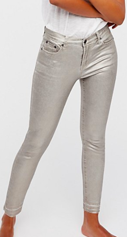 Blonde Metallic Skinny