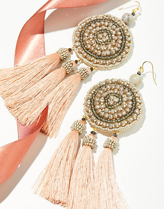 Winona Embellished Tassel Earrings