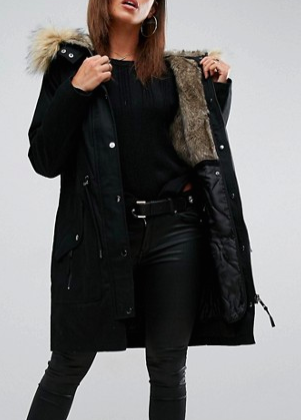 ASOS Parka with Detachable Faux Fur Liner