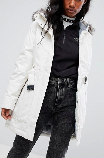 The North Face Brooklyn Parka In White