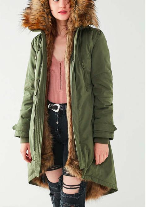 UO Aspen Detachable Faux Fur Lined Parka