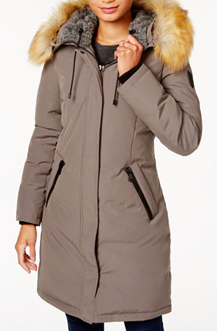 Down & Feather Fill Parka with Faux Fur Trim VINCE CAMUTO