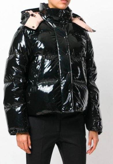 Gaura Shiny Down Quilted Puffer Coat MONCLER