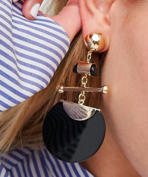 ASOS Statement Disc and Bar Earrings