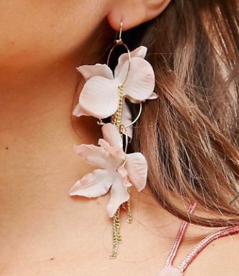 ASOS Flower Strand Earrings