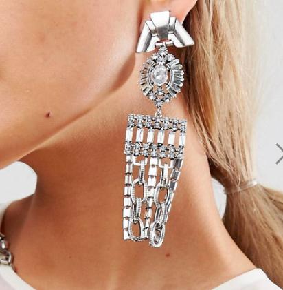 ASOS Statement Crystal Drop Earrings