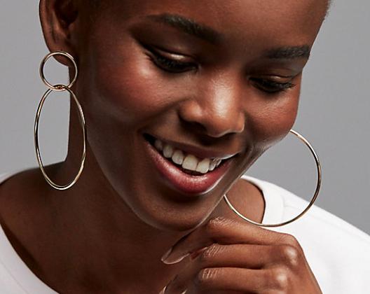 Express Interlock Hoop Earrings