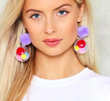 Nasty Gal Ballgame Pom Pom Earrings
