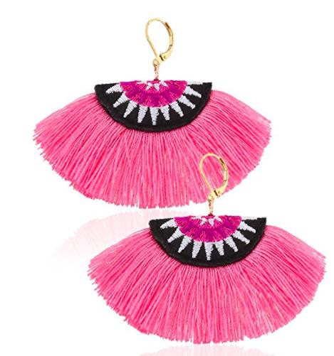 Eternity J. Eternity J. Women Ethnic Bohemian Embroidery Wool Tassel Drop Dangle Earrings Eardrop