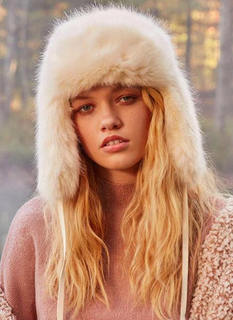 Fuzzy Faux Fur Trapper Hat