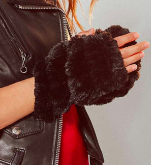 UO Faux Fur Fingerless Glove