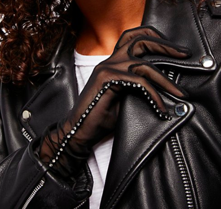 FP Magic Touch Embellished Mesh Gloves