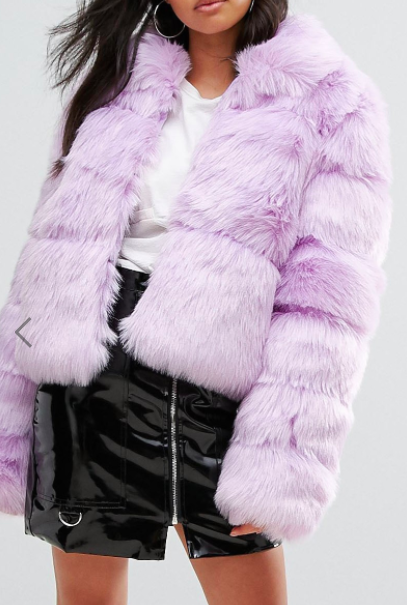Missguided Crop Pelted Faux Fur Coat