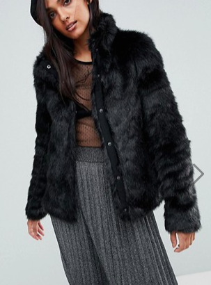 Vero Moda Tall Short Faux Fur Jacket