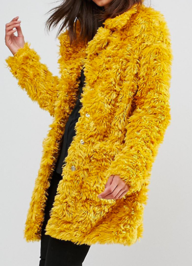 Glamorous Tall Coat In Snuggle Faux Fur