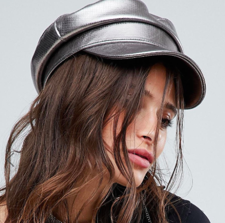 Sacred Hawk Baker Boy Cap In Metallic